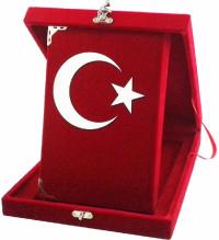 189 AYYILDIZ- KADİFE PLAKETLİ KURANI KERİM - ORTA BOY