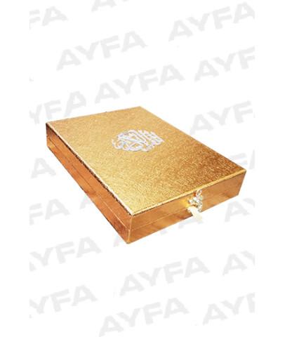 KURAN I KERİM - 189KP GOLD - PLAKETLİ KURANI KERİM - ORTA BOY