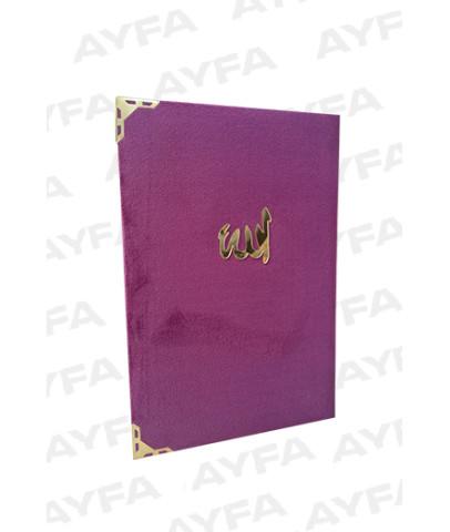 197 MOR -KADİFE CİLTLİ ORTA BOY YASİN 128 SAYFA