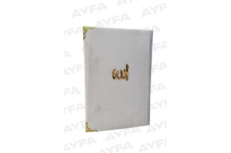 197 BEYAZ -KADİFE CİLTLİ ORTA BOY YASİN 128 SAYFA  Kod:AYFA197